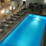 Отдых в Алуште Алушта Пансионат Kруиз 3,вид на бассейн.